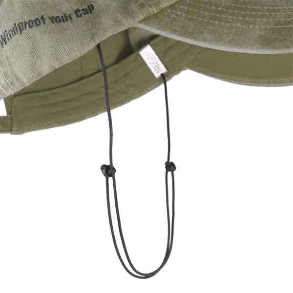 Capsurz® Cap Retainer clips to inside hat band